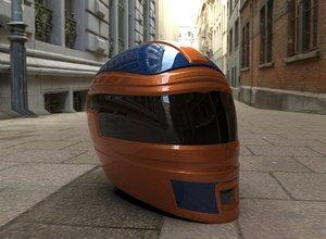 3D helmet racing type
