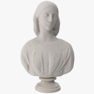 3D josephine butler bust model