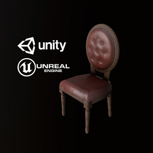 3D pbr ready antique chair model