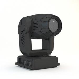 3D spotlight concert model