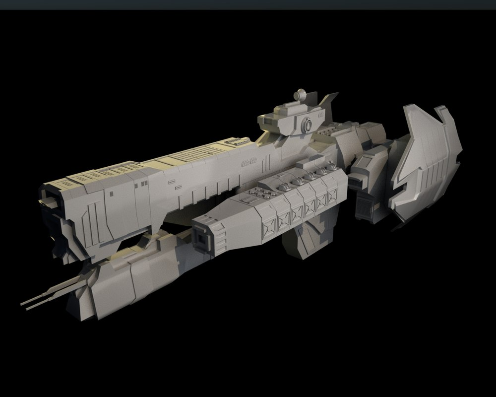 frigates halo 3D model