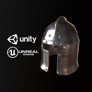 3D pbr ready medieval steel model