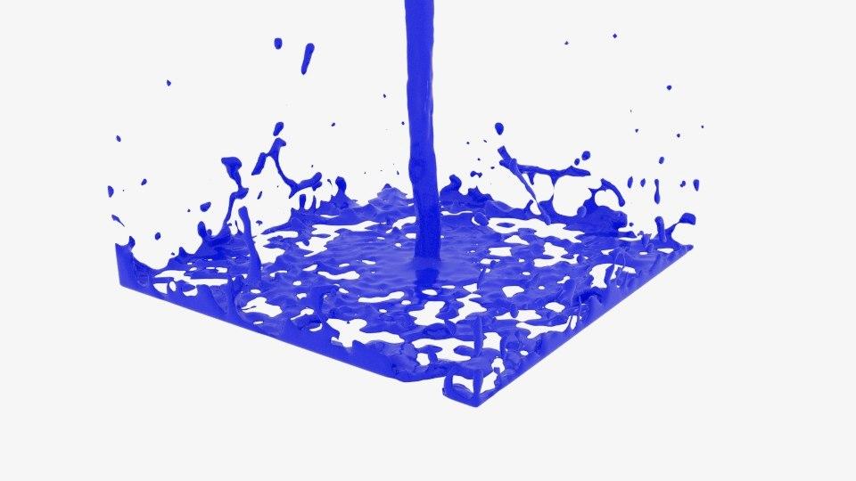 rectangle flow splasher 3D model