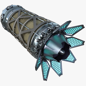 3D model sci-fi engine