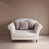 3D model custom classic armchair