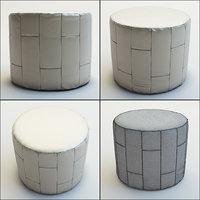 3D pouf calypso