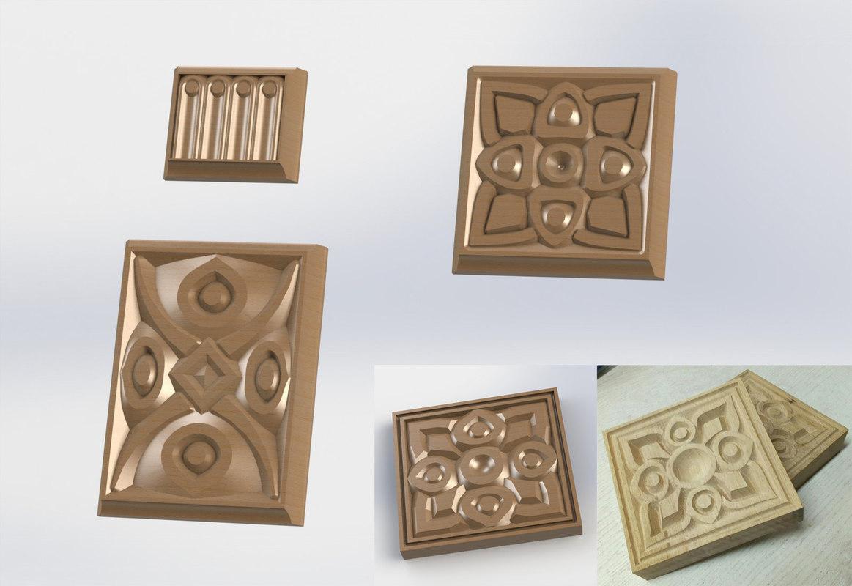 wood pattern cnc model