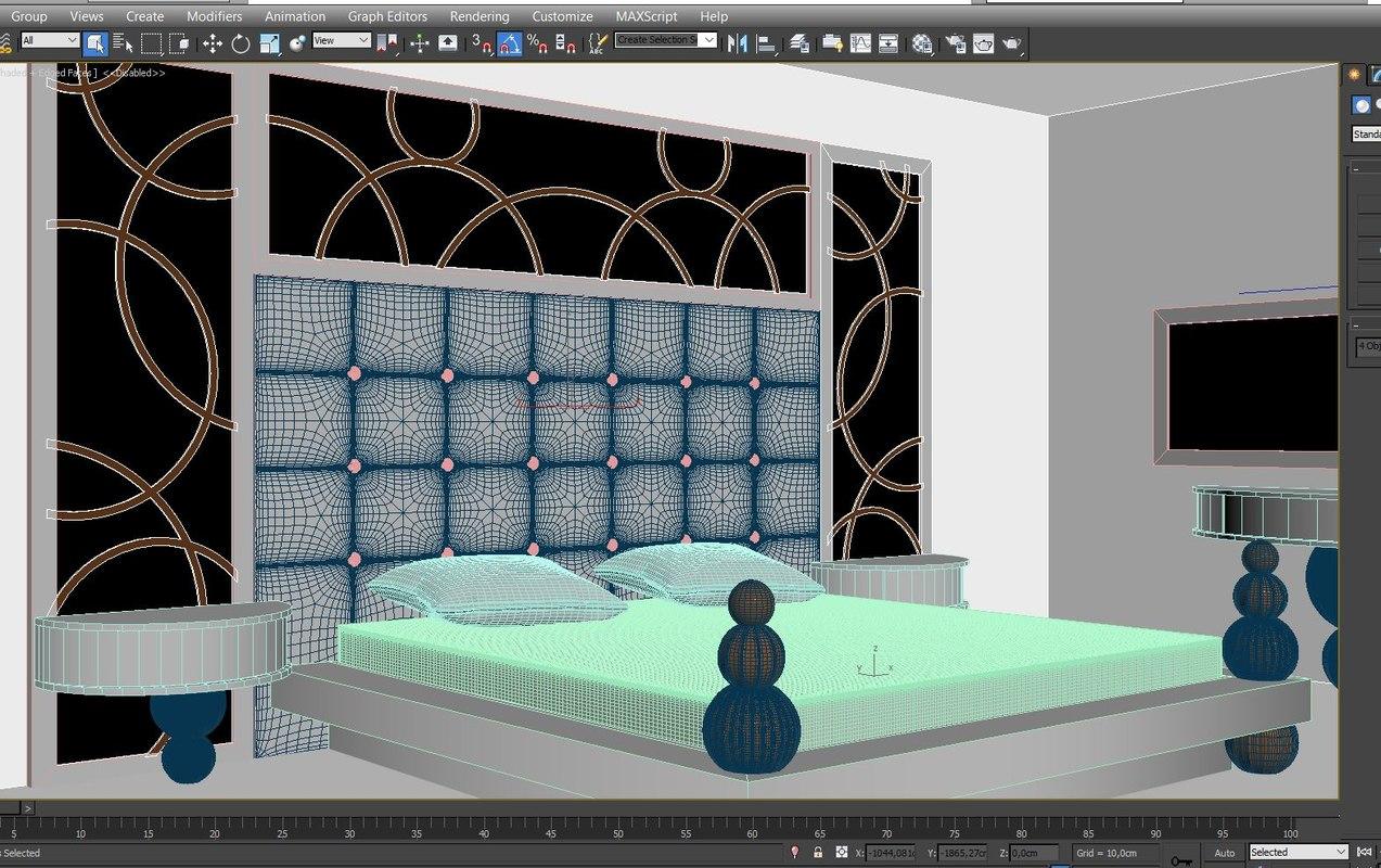 3D bedroom model