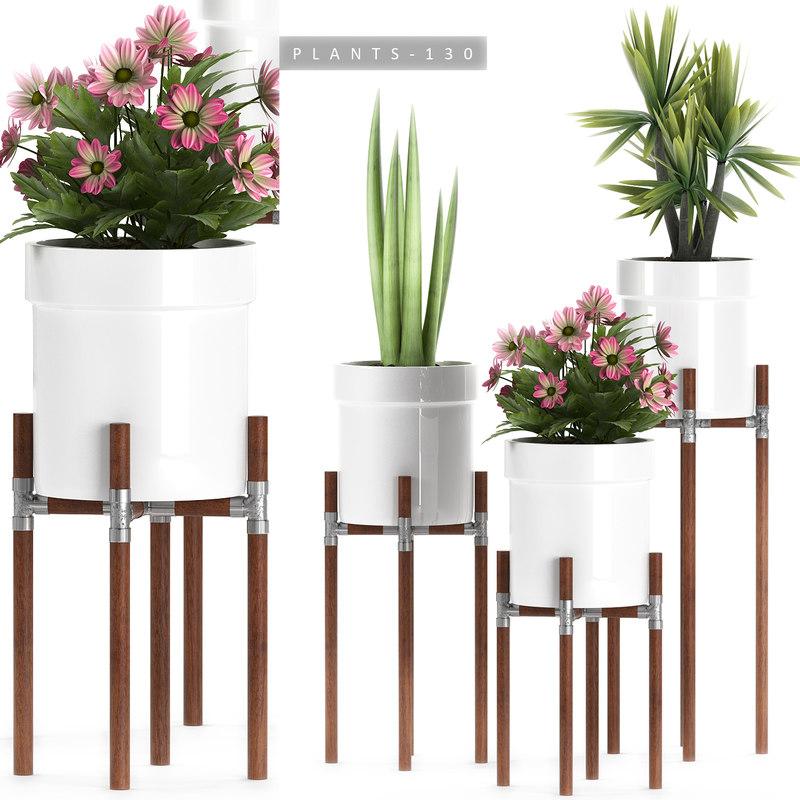 3D plants set 130 flowering