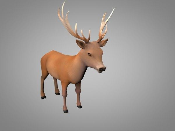 3D deer doe