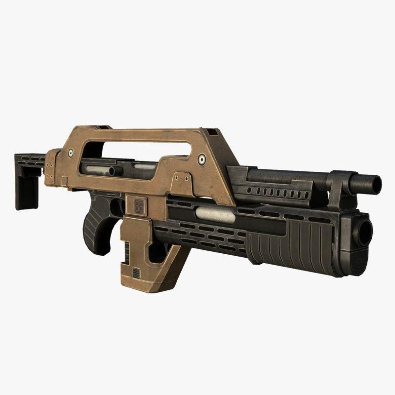 3D model m41a gun