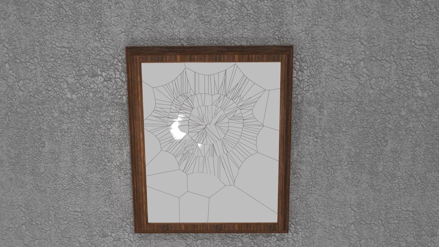 broken mirror 3D model