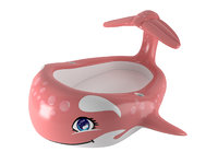 3D model inflatable whale pool