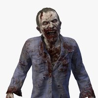 3D zombie rig character model