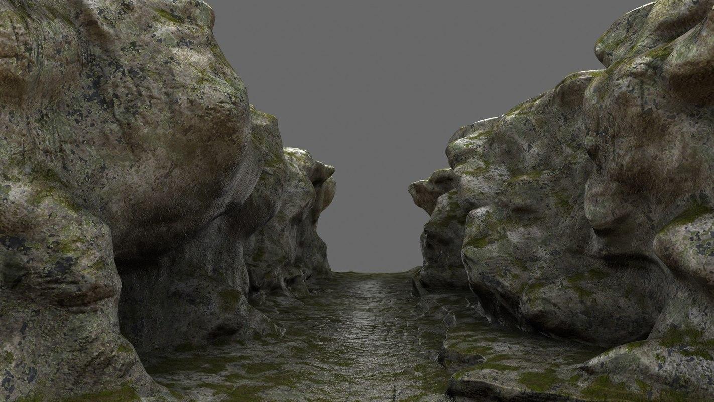 3D canyon model