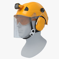 3D professional helmet work height model