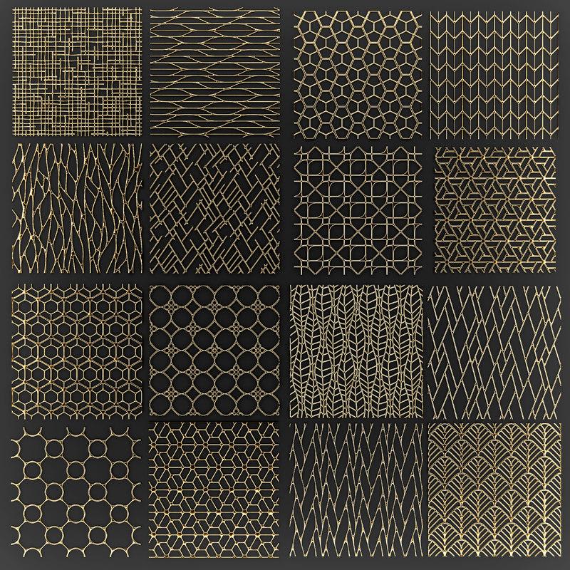 golden lattice 3D