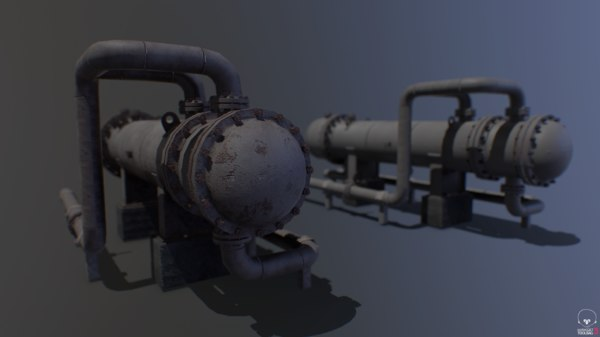 3D model heat exchanger