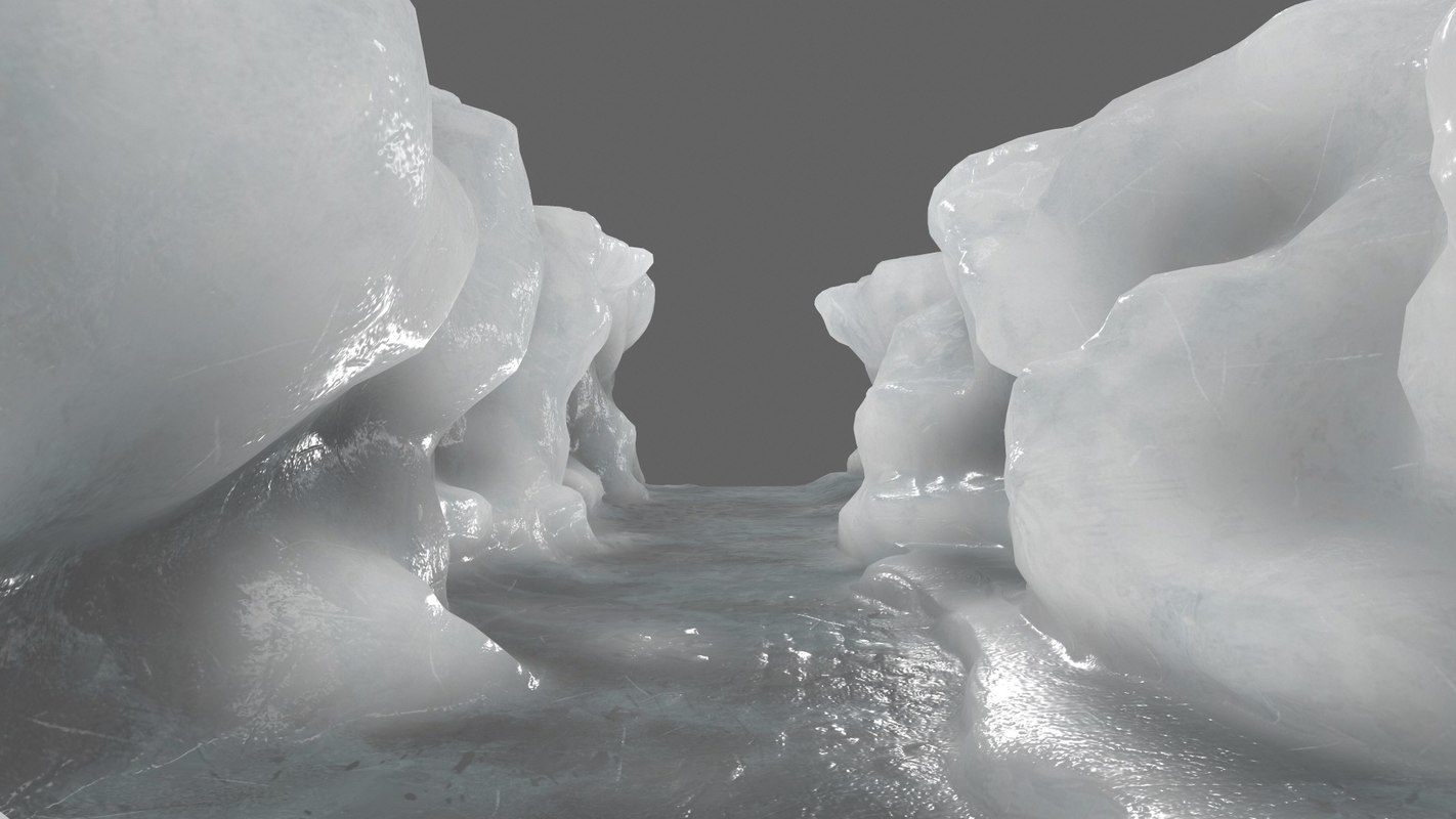 ice canyon 3D model