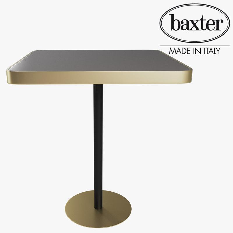 3D baxter baudelair table