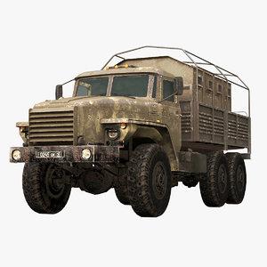 russian military federal ural 3D