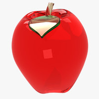 glass apple 3D model