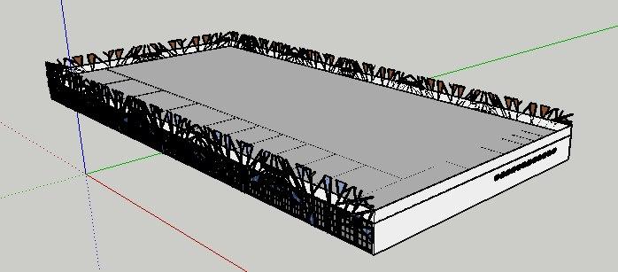 3D building tree inspired facade model