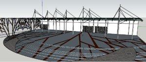 admin library 3D model