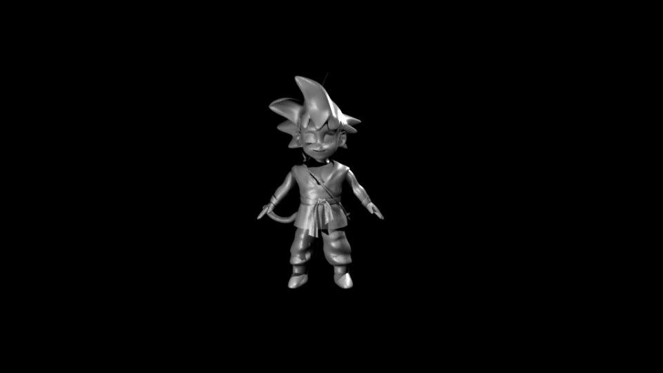 goku gt 3D model