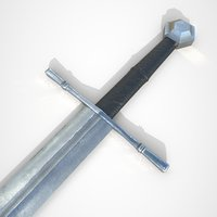 3D model longsword sword