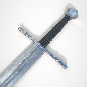 3D model longsword sword