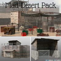 pack abandoned post-apocalyptic 3D