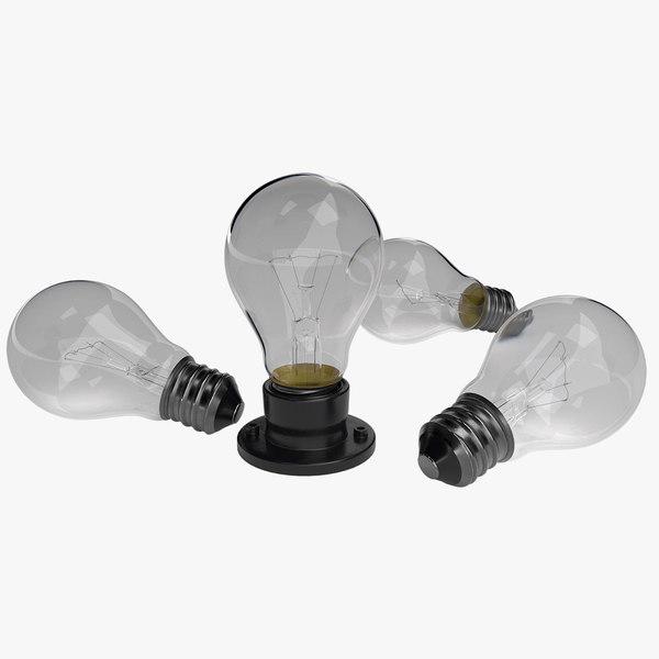 3D bulbs objects model