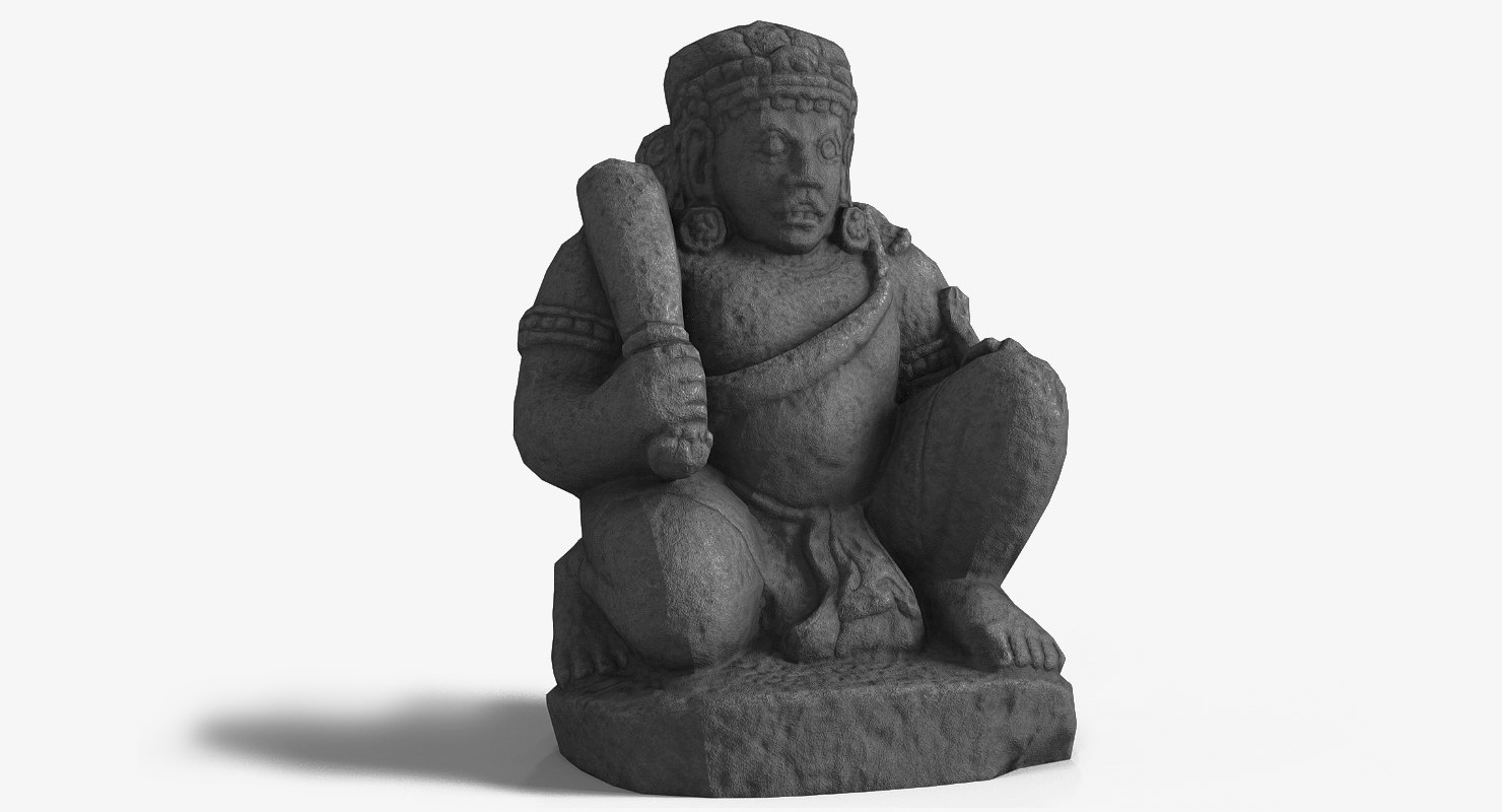dwarapala statue 3D