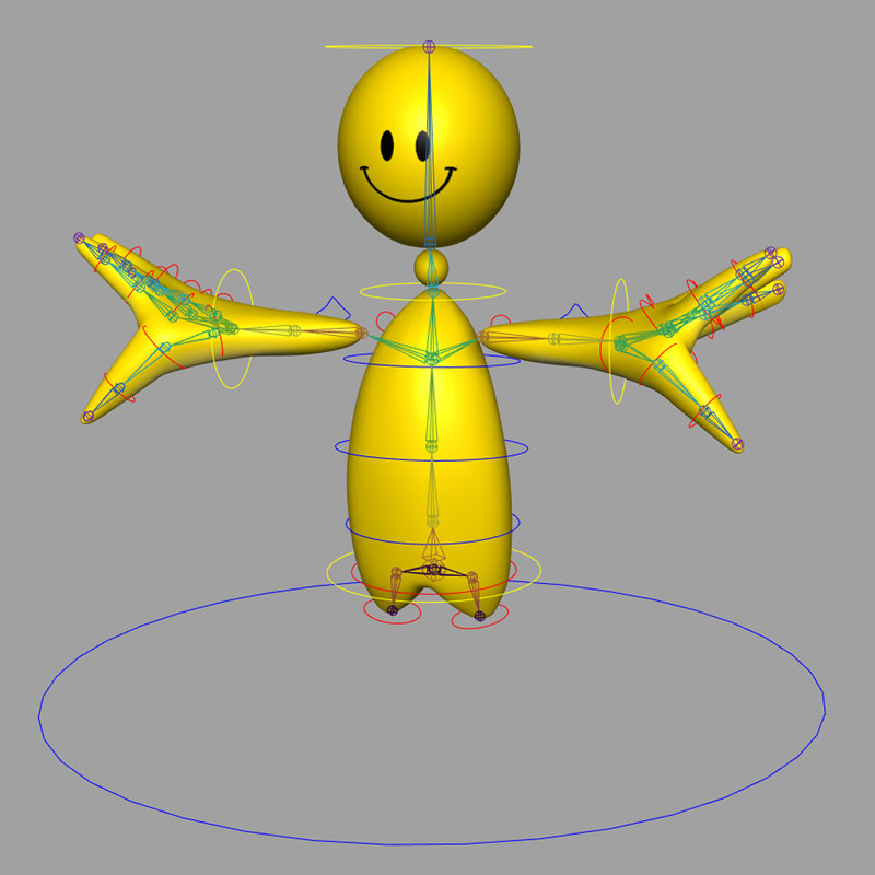 smiley rigged character model