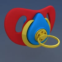 pacifier child baby mouth 3D