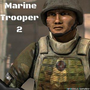 3D marine soldier 2