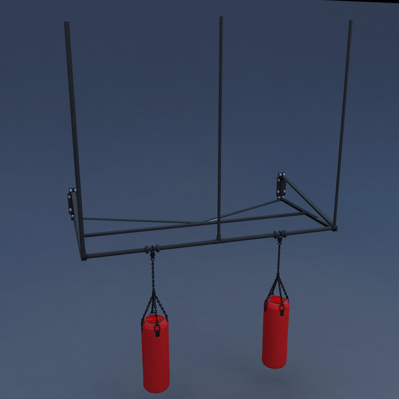 3D model punching bag hanging stand