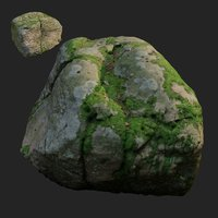 scanned nature stone 018 3D model
