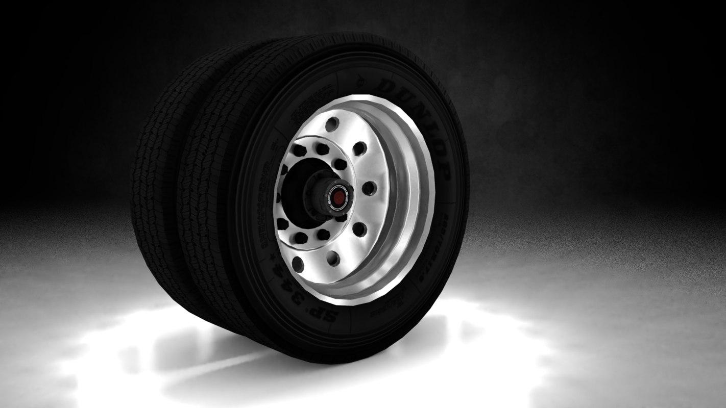 3D chrome trailer wheel