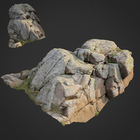 3D scanned nature stone 019