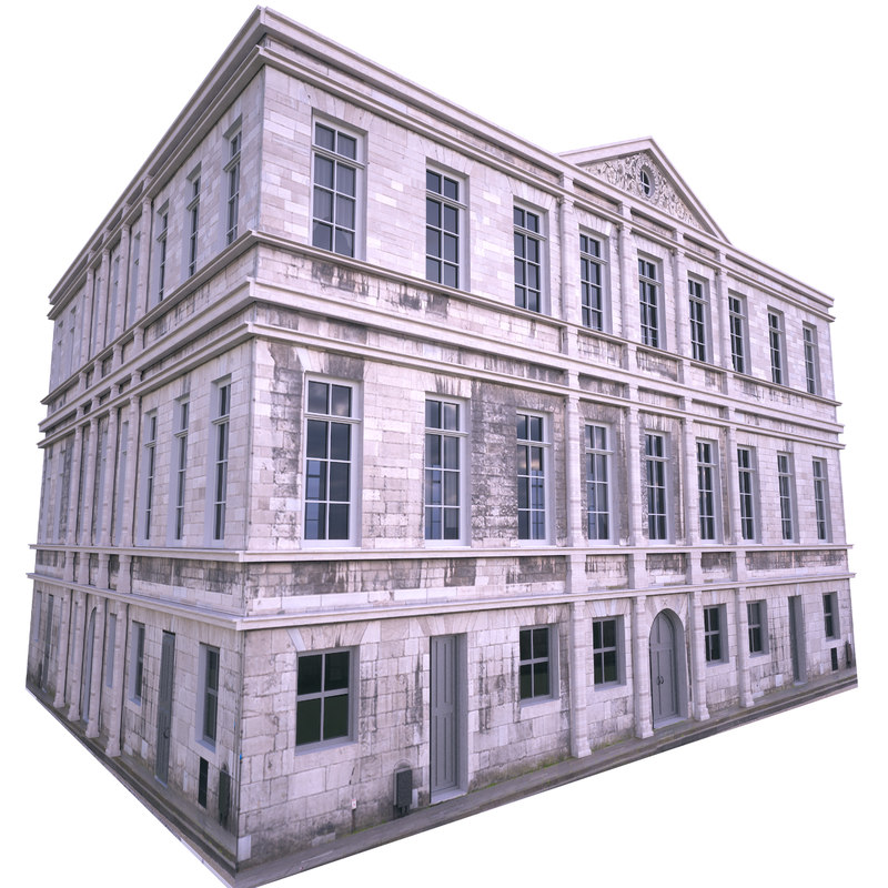 3D old house paris