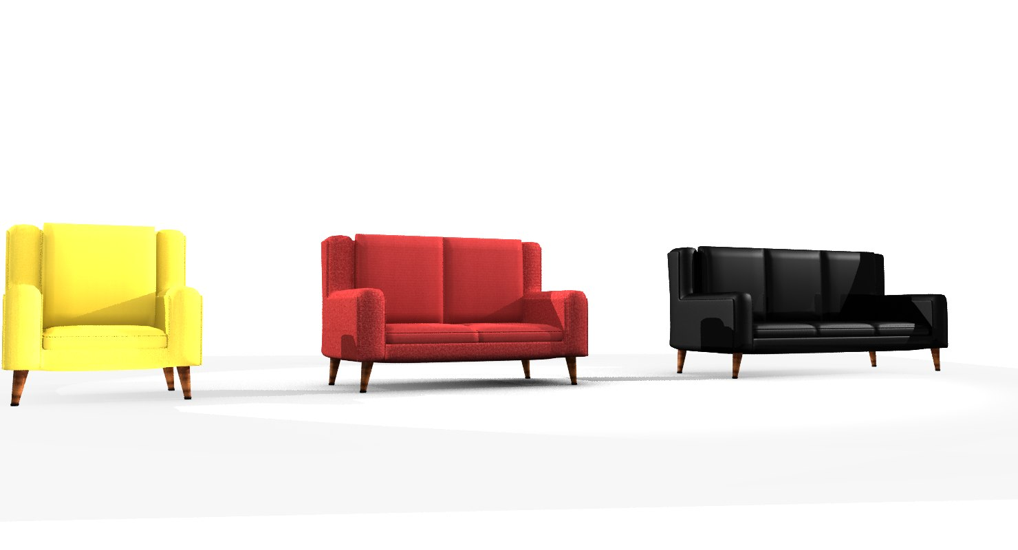 sofa variety furniture pack 3D model