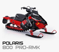 polaris 800 pro-rmk 3D model