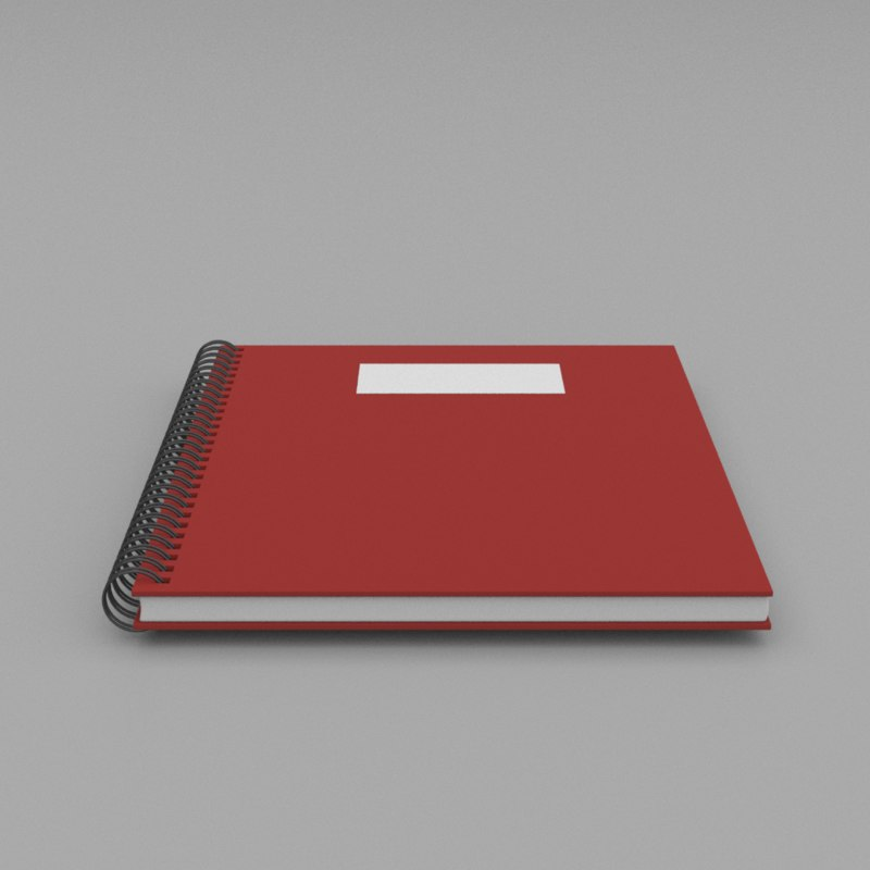 3D binded notebook abc