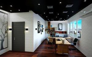 office design modern 3D model