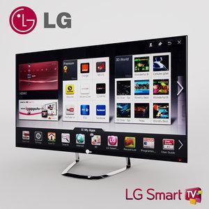 tv lg 42lm760t 3D model