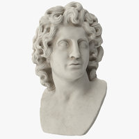3D bust alexander great