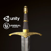 Medieval Short Sword - PBR Game Ready