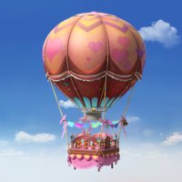 cartoon hot air balloon 3D